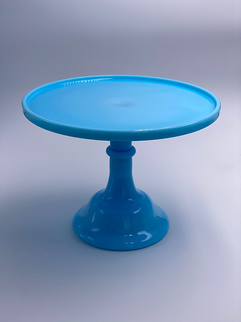 """Mosser Glass 10"""" Cake Stand in 'Robins Egg Blue'"""