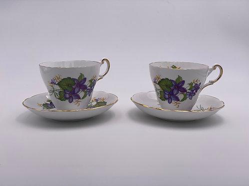 Vintage 'Regency' Teacup Duo