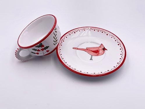 'Cardinal' Teacup and Saucer