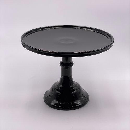"Mosser Glass 10"" Cake Stand in 'Black Raspberry'"