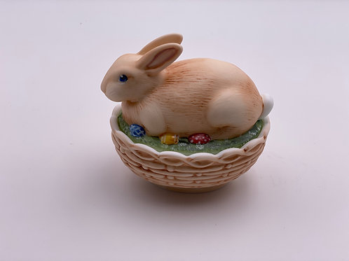 Mosser Glass 'Decorated Milk' Bunny Candy Dish