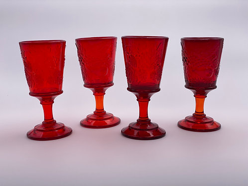 Vintage 'Strawberry & Currant' Ruby Red Wine Glass
