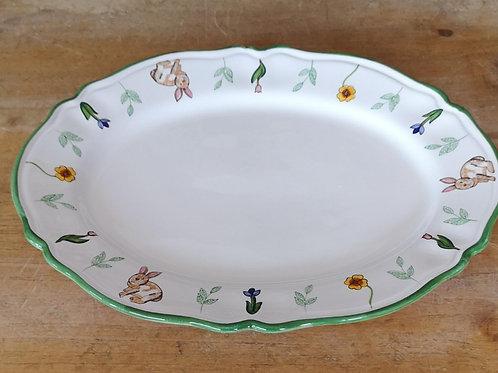 'Bunny' Oval Scalloped Platter