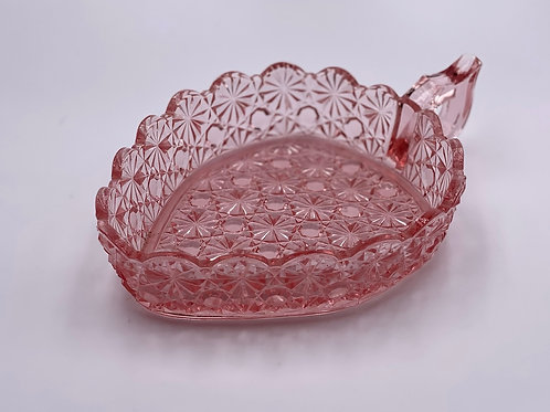 Vintage 'Daisy & Button' Heart Candy Dish in 'Pink'