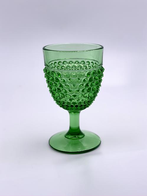 Vintage 'Hobnail' Goblet in 'Green'