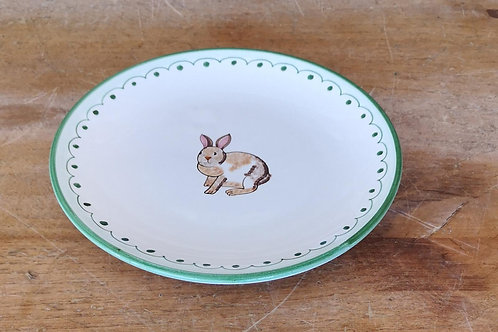 Boxed Set of (4) 'Bunny' Dessert Plates