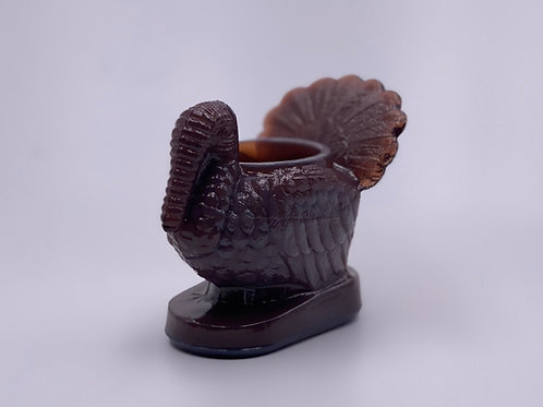 Mosser Glass 'Turkey Toothpick Holder' in 'Eggplant'