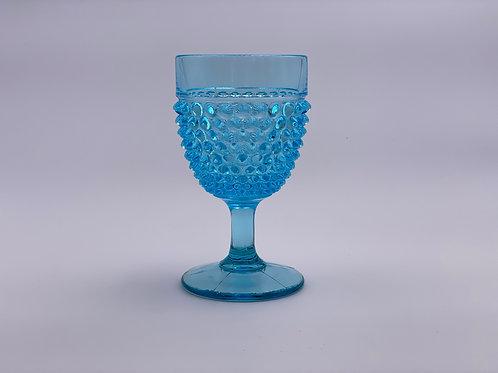 Vintage 'Hobnail' Light Blue Goblet