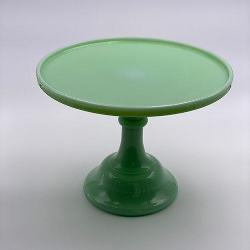 "Mosser Glass 10"" Cake Stand in 'Jadeite'"