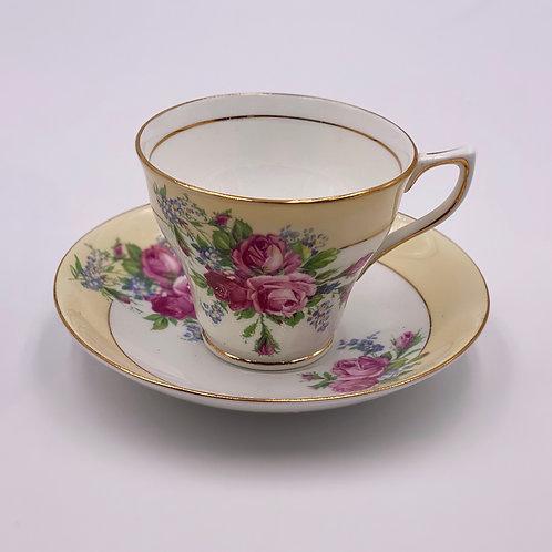 Vintage 'Rosina' Teacup & Saucer