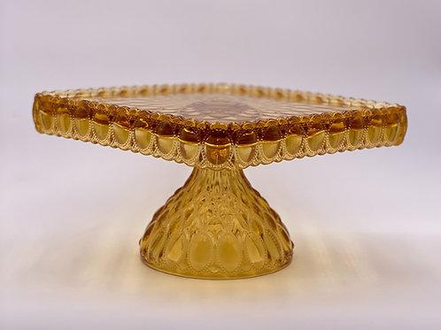 Mosser Glass 'Elizabeth' Cake Stand in 'Amber'