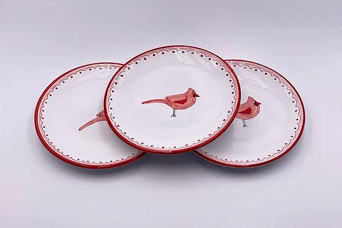 Boxed Set of (4) 'Cardinal' Dessert Plates