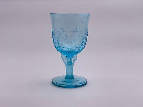 Vintage 'Maple Leaf' Light Blue Goblet