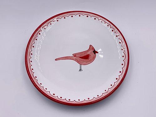 'Cardinal'  Dessert Plate