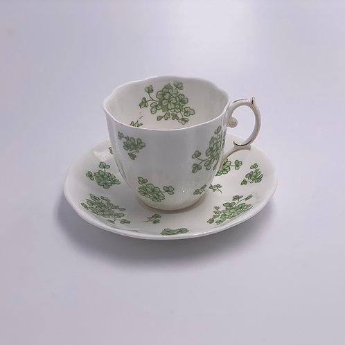 Vintage 'Royal Albert' Teacup & Saucer in 'Shamrock'