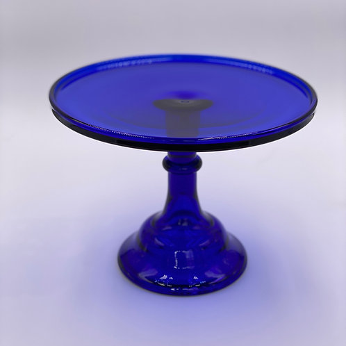 "Mosser Glass 10"" Cake Stand in 'Cobalt'"