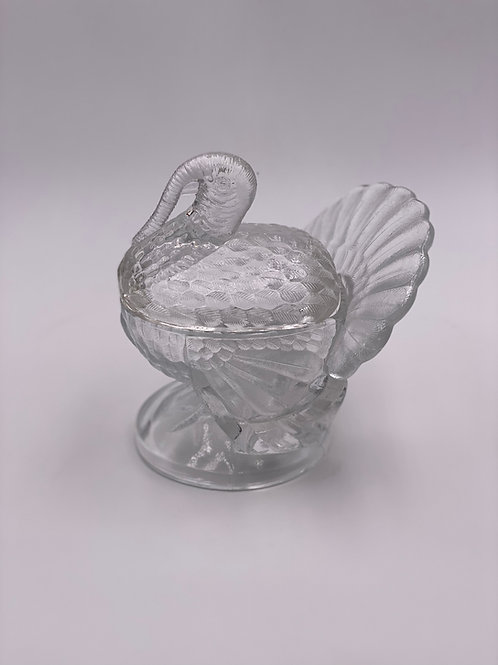Vintage 'Turkey' Covered Dish in 'Crystal'