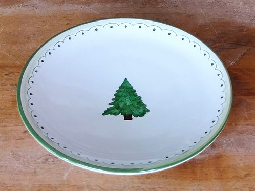 Boxed Set of (4) 'Tree' Dessert Plates