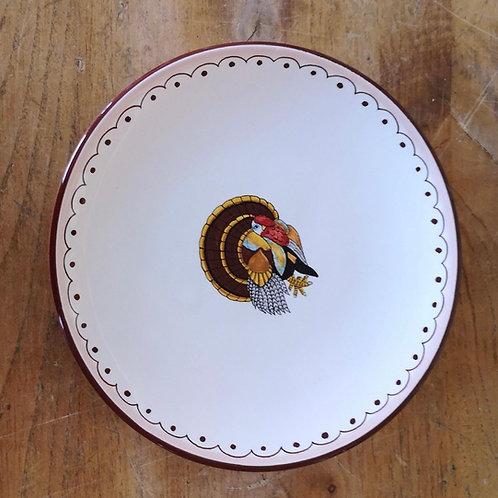 'Turkey' Dessert Plate (Individual)