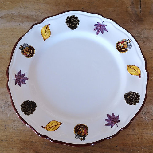 'Turkey' Charger/Round Scalloped Platter