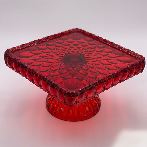 Mosser Glass 'Elizabeth' Cake Stand in 'Red'