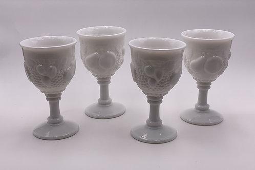 Vintage 'Della Robbia' Goblet in 'Milk Glass'