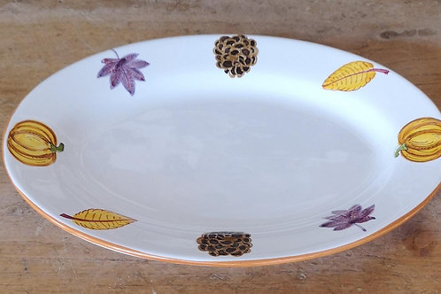 'Pumpkin' Oval Plate (Individual)