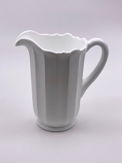 Mosser Glass 'Panel' Pitcher in 'Milk White'