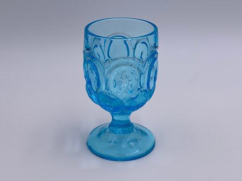 Vintage 'Moon & Stars' Light Blue Goblet