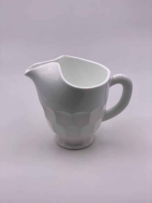 Mosser Glass 'Georgian' Pitcher in 'Milk White'