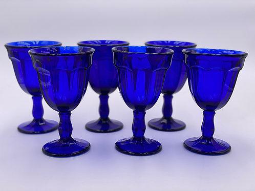 Vintage 'Mid-Century' Goblet in 'Cobalt'