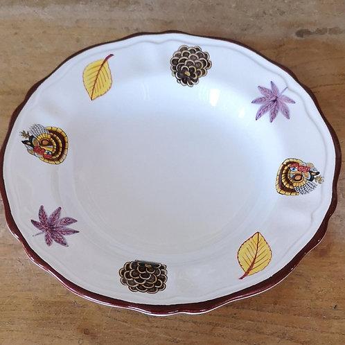 'Turkey' Scalloped Bowl (Individual)