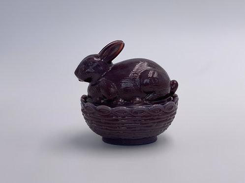 Mosser Glass 'Eggplant' Bunny Candy Dish