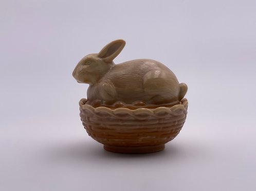 Mosser Glass 'Chocolate Swirl' Bunny Candy Dish