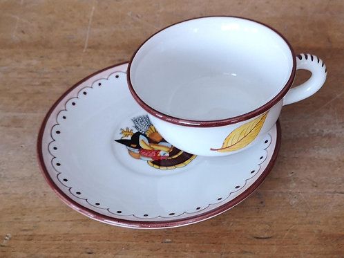'Turkey' Teacup & Saucer