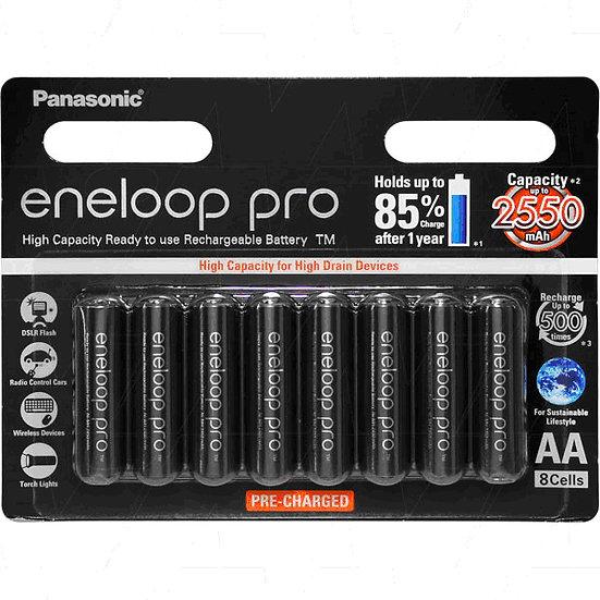 Panasonic Low Self Discharge Batteries AA Pkt 8