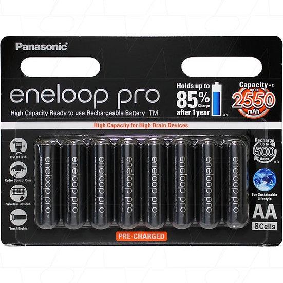 Panasonic Eneloop  Rechargeable AA  BK-3HCCE 8pk