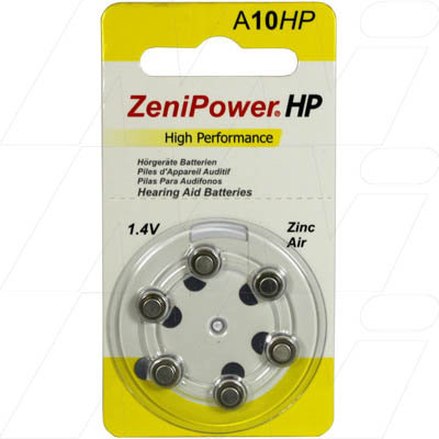 A10 BP6 Hearing Aid Batteries - Pkt 6