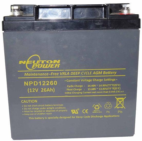 12v 26Ah Neuton NPD12260 Battery