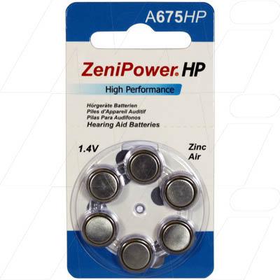 A675 BP6 Hearing Aid Batteries - Pkt 6