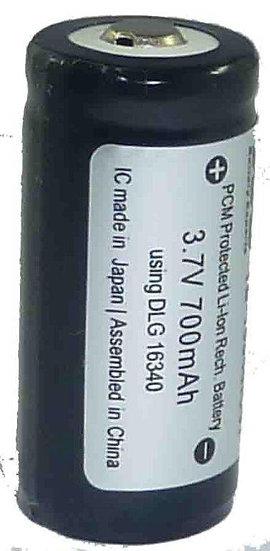 Li-ion 16340 Rechargeable Battery 700 mAh