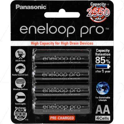 Panasonic Low Self Discharge Batteries AA Pkt 4