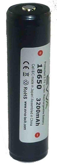 Li-ion 18650 Rechargeable Torch Battery 3200 mAh