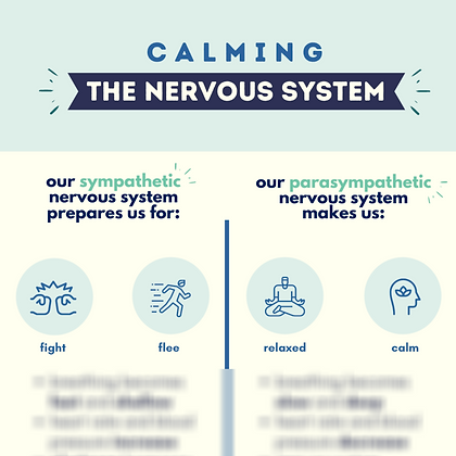 Calming The Nervous System Infographic (1 page)