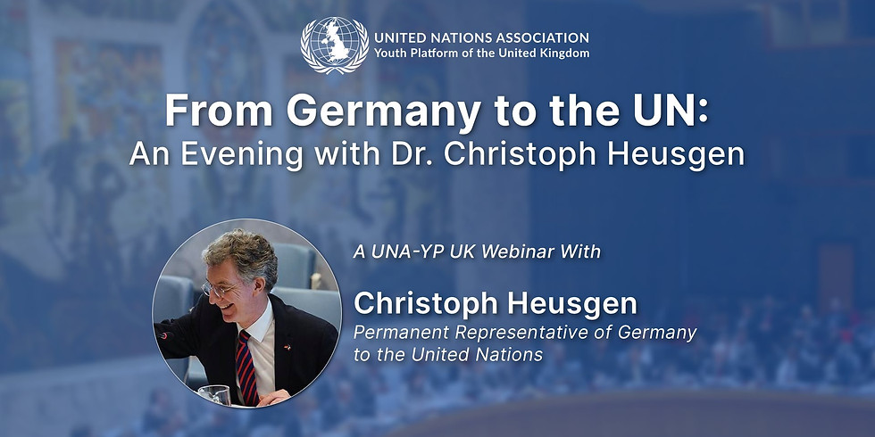 From Germany to the UN: An Evening with Dr. Christoph Heusgen