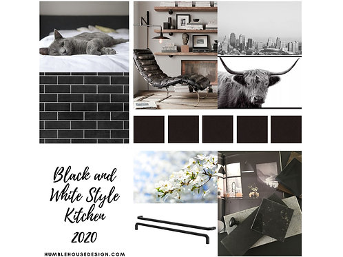 Black and White Kitchen Finish Materials List