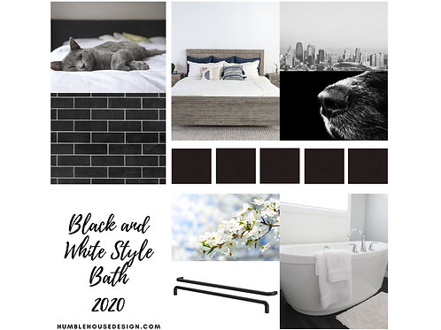 Black and White Bath Finish Materials List