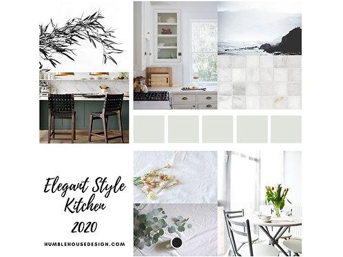 Elegant Style Kitchen 01 Finish Materials List