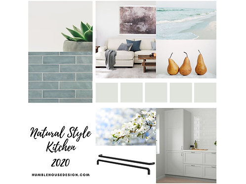 Natural Style Kitchen - Blue Gray