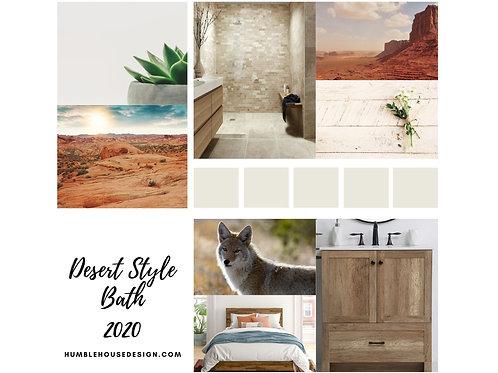 Desert Style Bath Finish Materials List